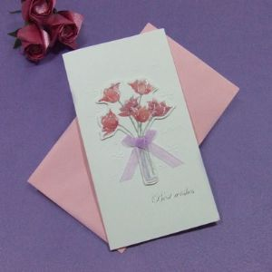 "Handcrafted gift card, ""BEST WISHES"", (CD149)"